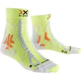X-Socks Trail Run Energy Calcetines Hombre, green lime/pearl grey
